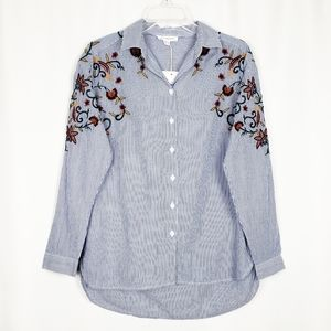 BEACHLUNCHLOUNGE embroidered button up shirt